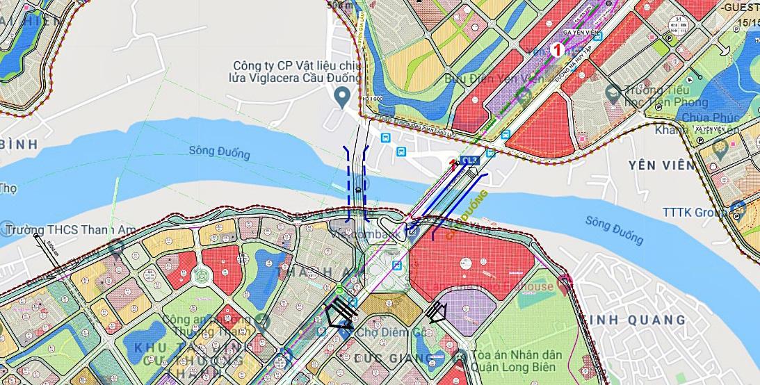 Cầu sẽ mở theo qui hoạch ở Hà Nội: Toàn cảnh vị trí làm cầu Đuống mới - Ảnh 1.