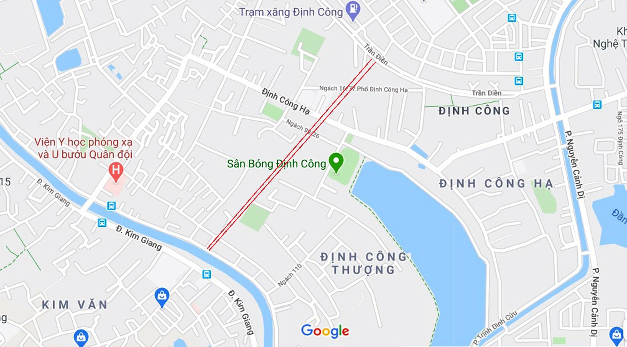 đường sẽ mở theo qui hoạch ở phường Định Công, Hoàng Mai, Hà Nội - Ảnh 2.