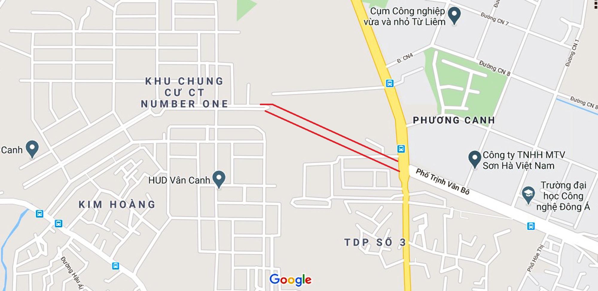 đường sẽ mở theo qui hoạch ở phường Phương Canh, Nam Từ Liêm, Hà Nội - Ảnh 2.