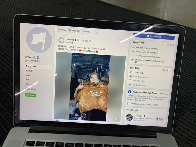 Người Việt 'hack' nick Ivanovic, livestream bán quần áo - Ảnh 1.