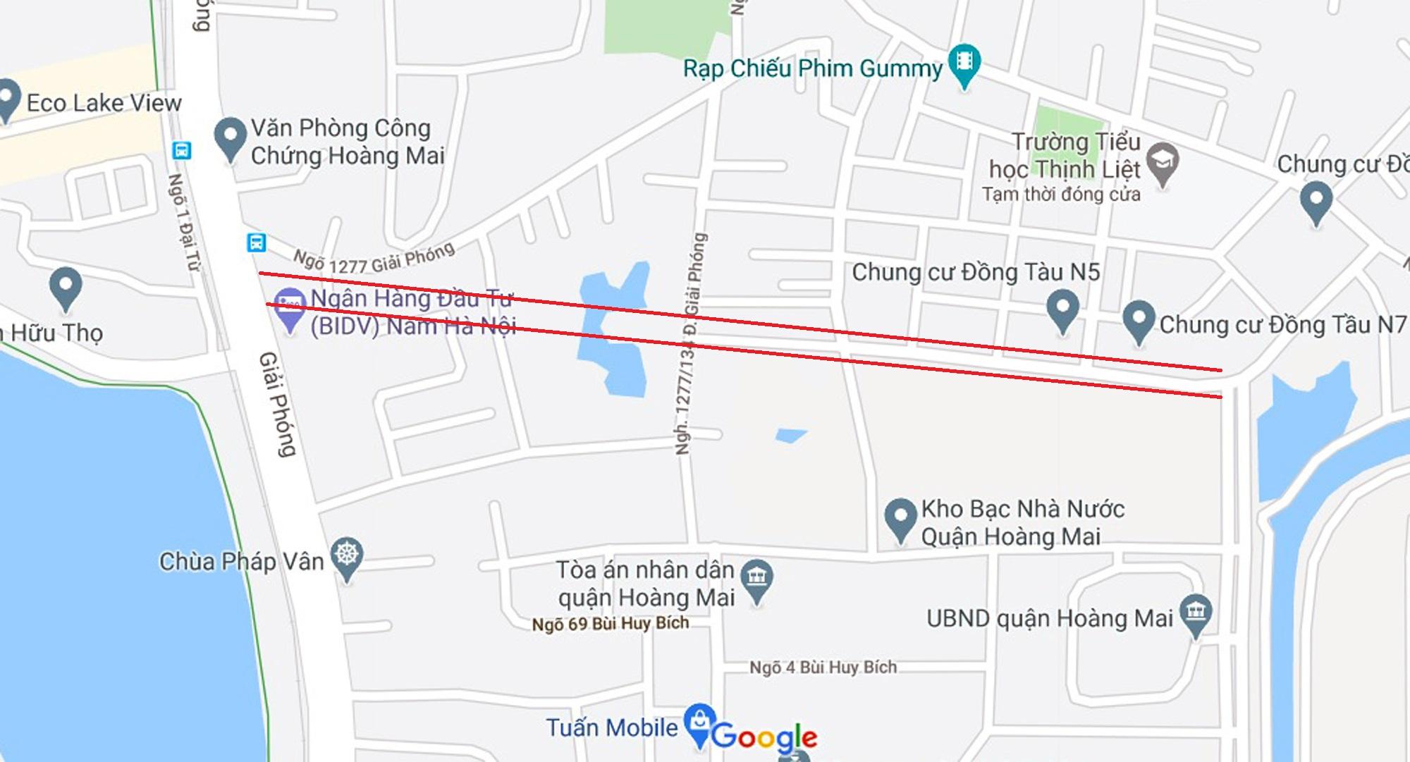Ba đường sẽ mở theo qui hoạch ở phường Thịnh Liệt, Hoàng Mai, Hà Nội - Ảnh 2.