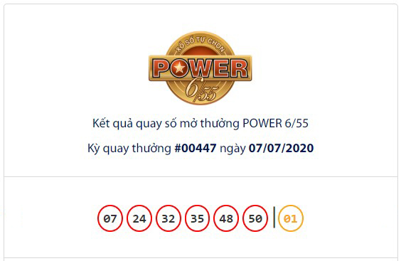 Kết quả Vietlott Power 6/55 ngày 7/7: Jackpot giá trị hơn 70,3 tỉ đồng hụt chủ nhân - Ảnh 1.