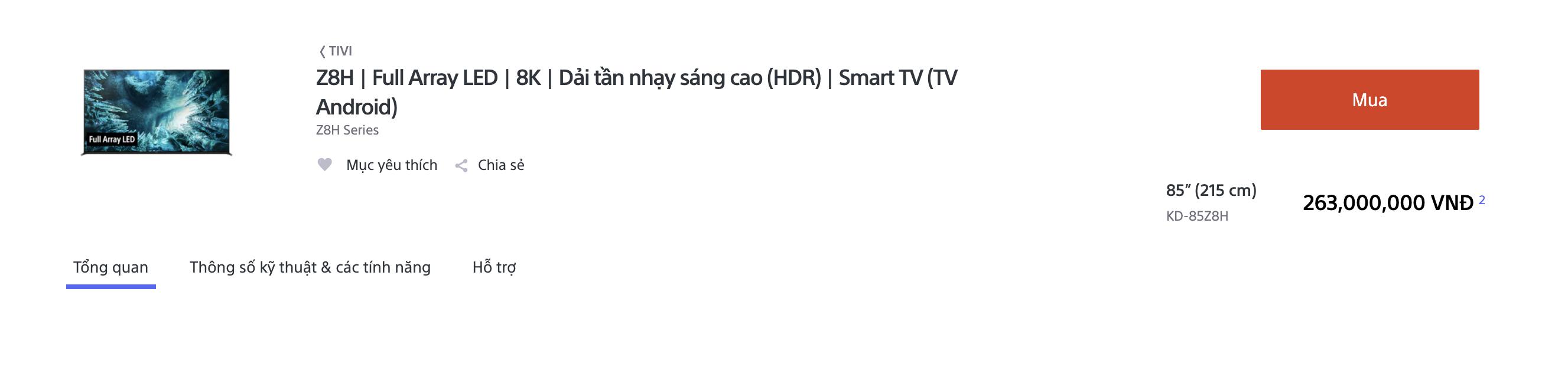 Sony lần đầu tiên ra mắt TV 8K tại Việt Nam giá 263 triệu đồng - Ảnh 1.