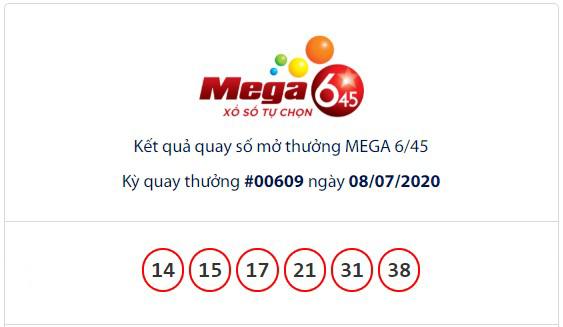 Kết quả Vietlott Mega 6/45 ngày 8/7: Jackpot giá trị 23,1 tỉ đồng vẫn chưa có chủ sở hữu - Ảnh 1.
