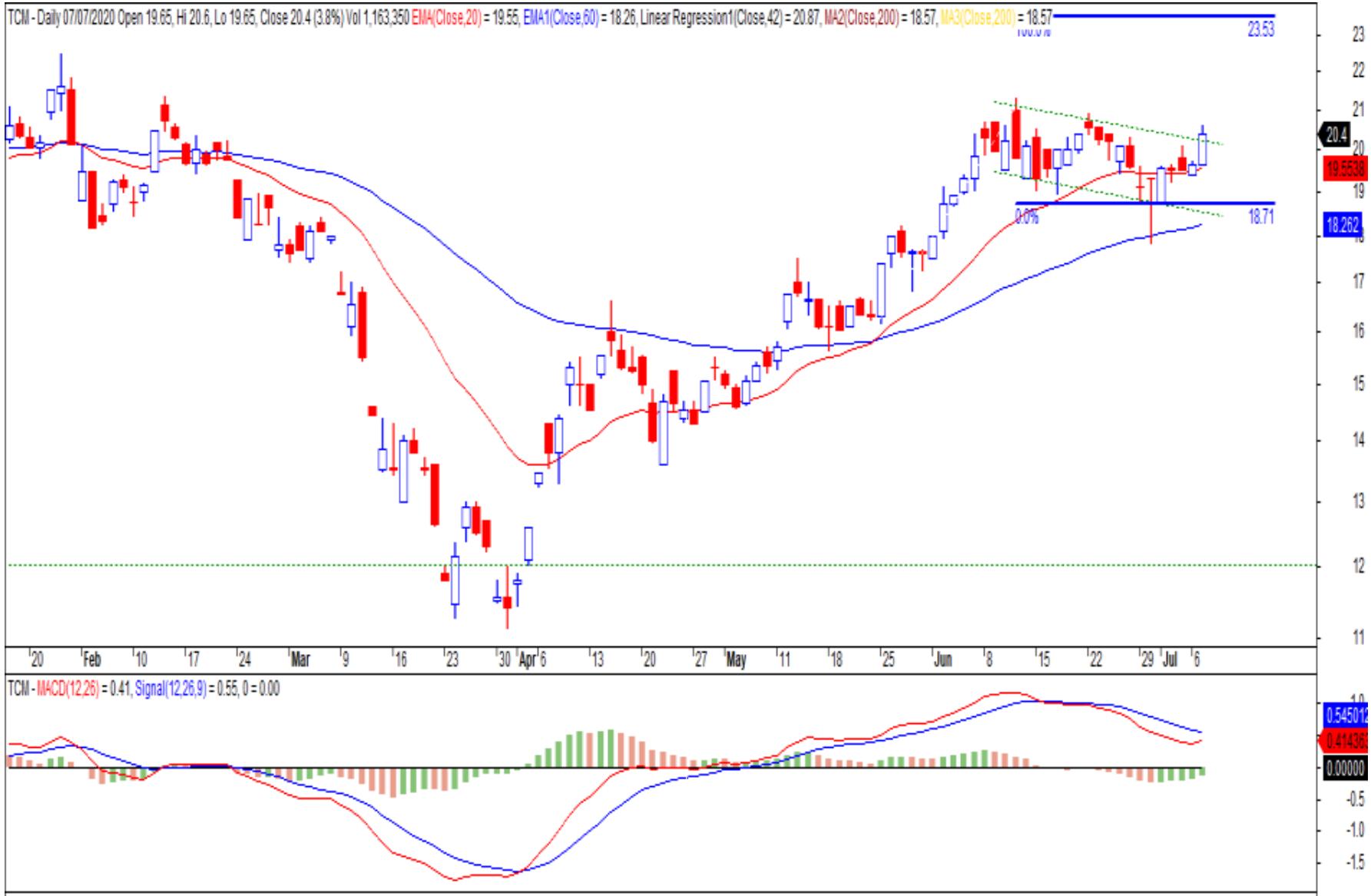 Cổ phiếu tâm điểm ngày 9/7: CTG, TCM, IMP, STK - Ảnh 2.