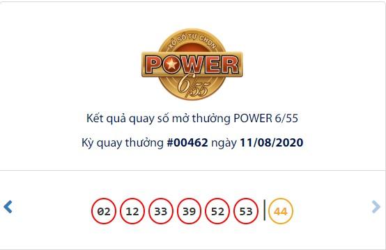 Kết quả Vietlott Power 6/55 ngày 11/8: Hụt chủ nhân giải thưởng Jackpot hơn 37,8 tỉ đồng - Ảnh 1.