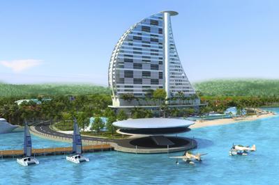 Bình Định sẽ có quảng trường nhạc nước tại khu lấn biển Mũi Tấn - Ảnh 2.