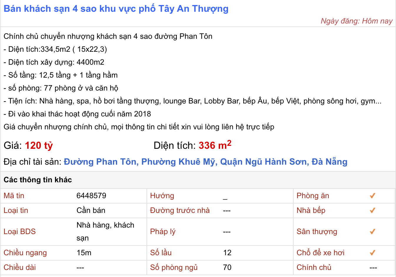 'Cú đấm bồi' COVID-19 khiến khách sạn 4 sao ở Đà Nẵng cũng rao bán - Ảnh 2.