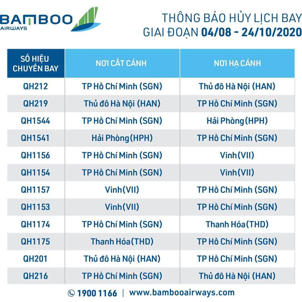 Bamboo Airways tạm hủy nhiều chặng bay nội địa vì COVID-19 - Ảnh 2.