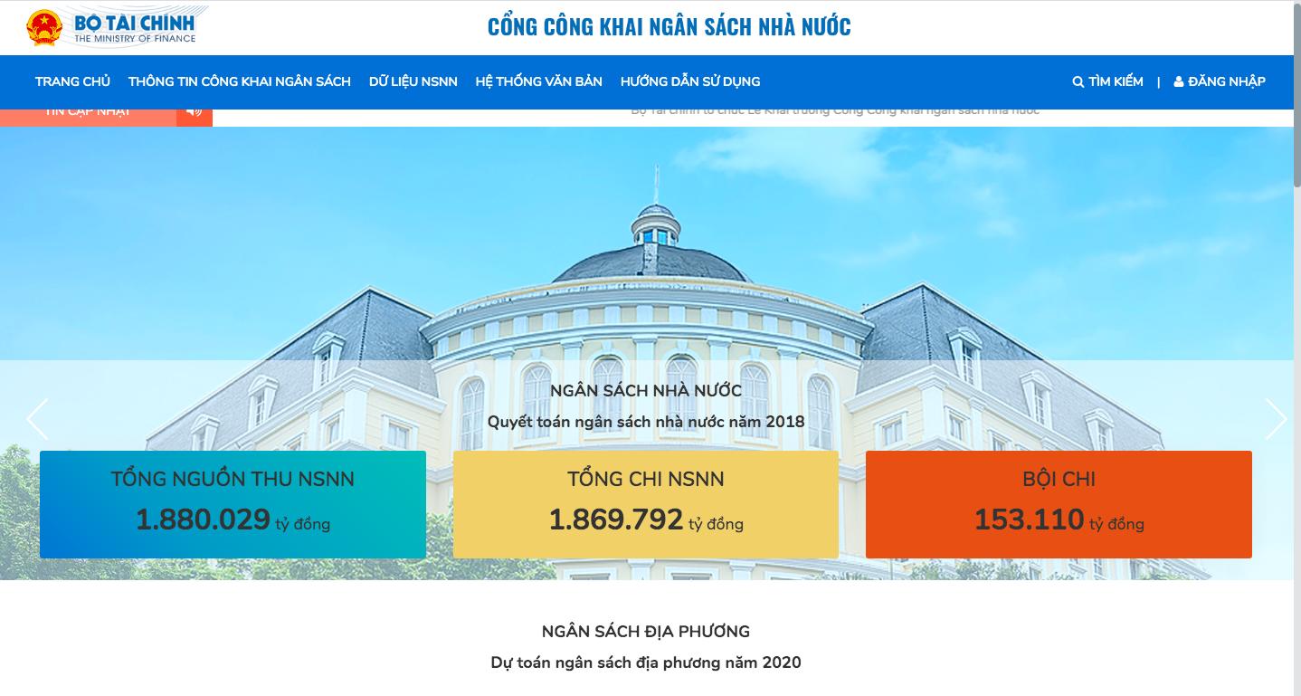 Cổng Công khai ngân sách Nhà nước chính thức hoạt động - Ảnh 2.