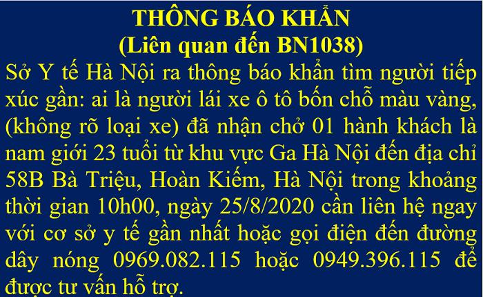 Hà Nội tìm một tài xế taxi sau khi thêm một ca COVID-19 ở Bà Triệu - Ảnh 1.