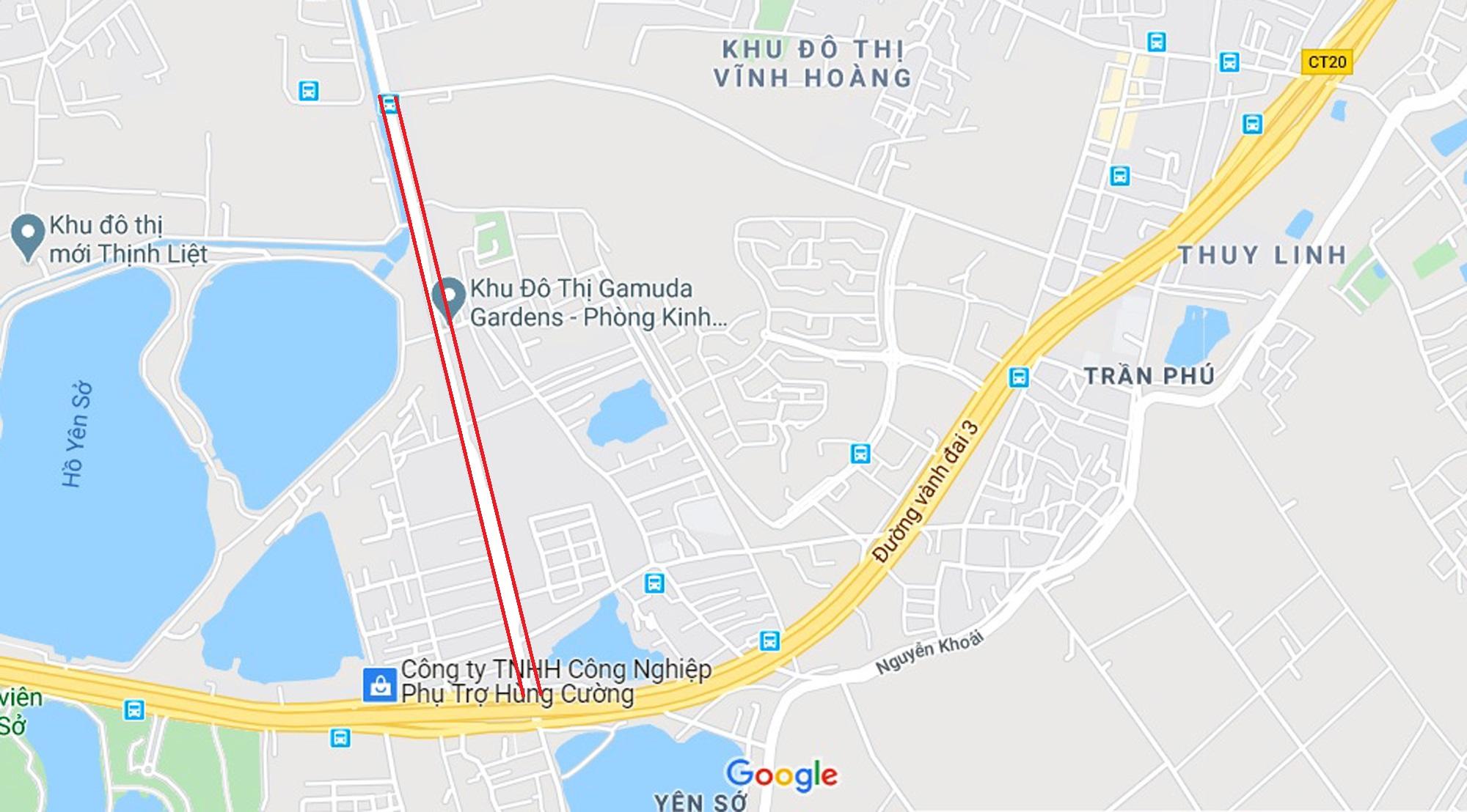 đường sẽ mở theo qui hoạch ở phường Yên Sở, Hoàng Mai, Hà Nội - Ảnh 2.