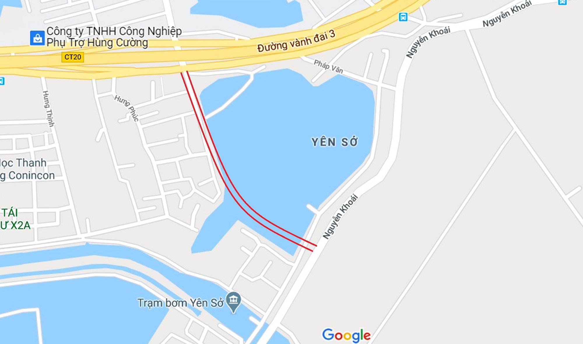 đường sẽ mở theo qui hoạch ở phường Yên Sở, Hoàng Mai, Hà Nội - Ảnh 8.