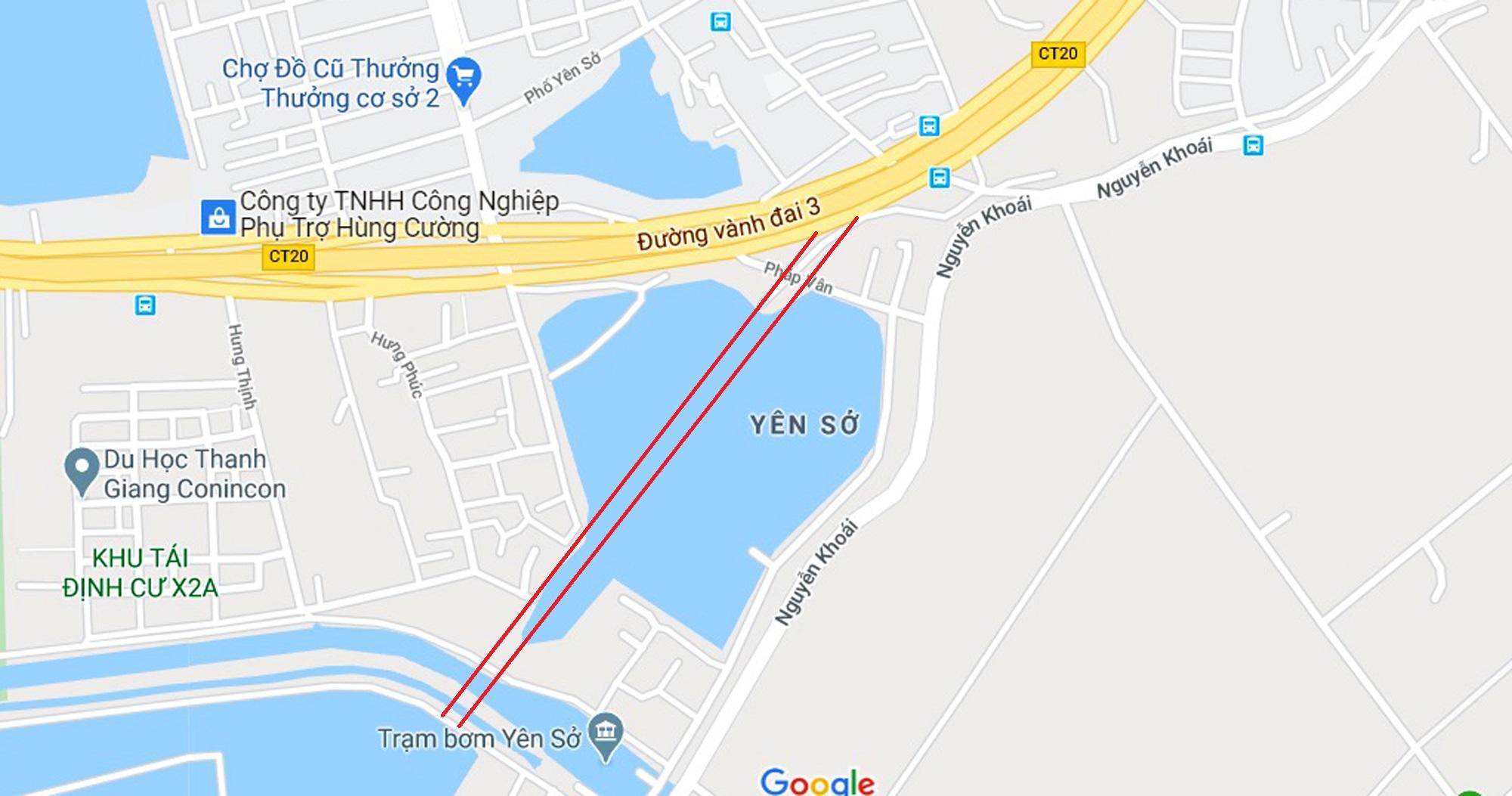 đường sẽ mở theo qui hoạch ở phường Yên Sở, Hoàng Mai, Hà Nội - Ảnh 12.