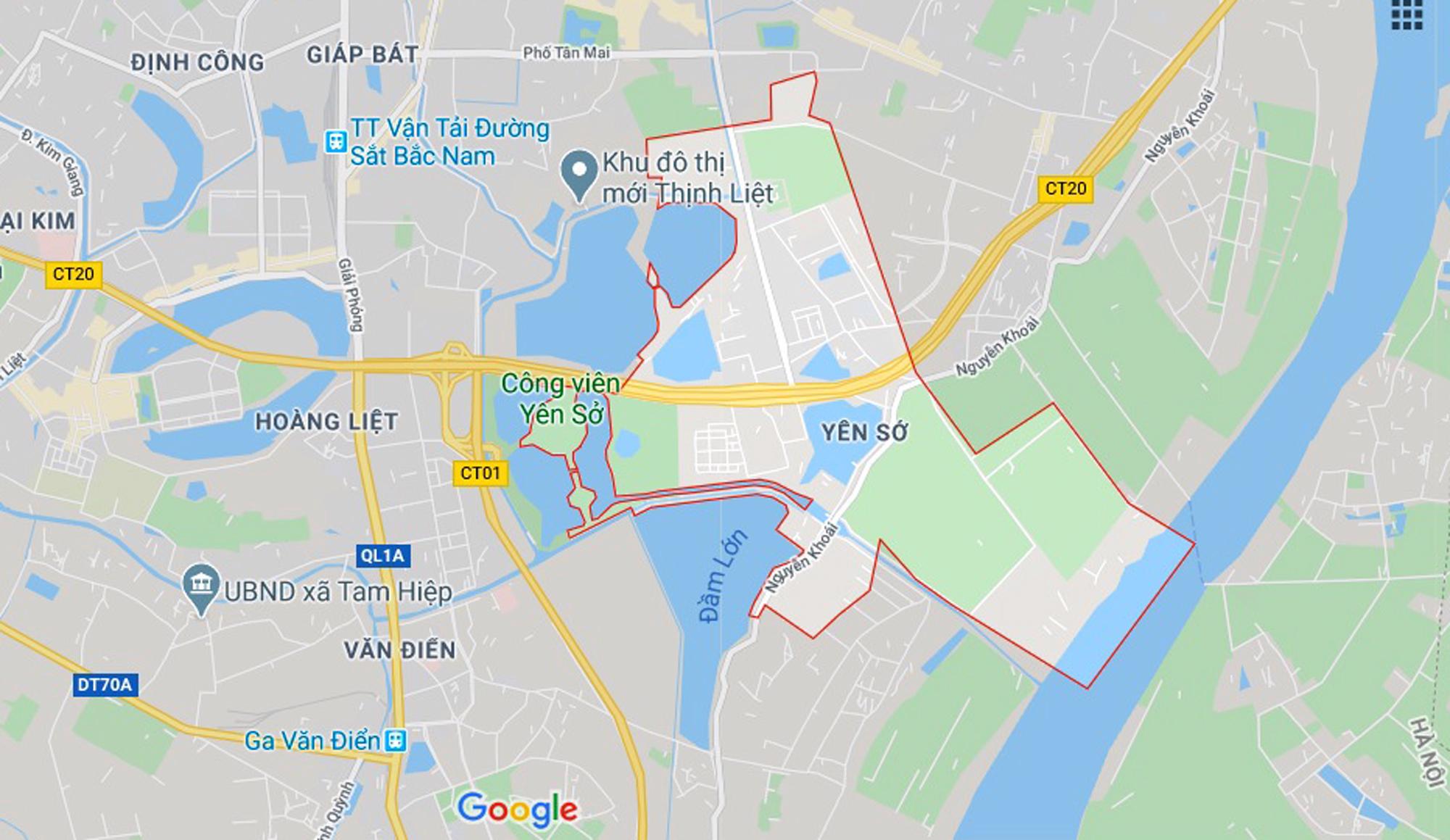 đường sẽ mở theo qui hoạch ở phường Yên Sở, Hoàng Mai, Hà Nội - Ảnh 1.