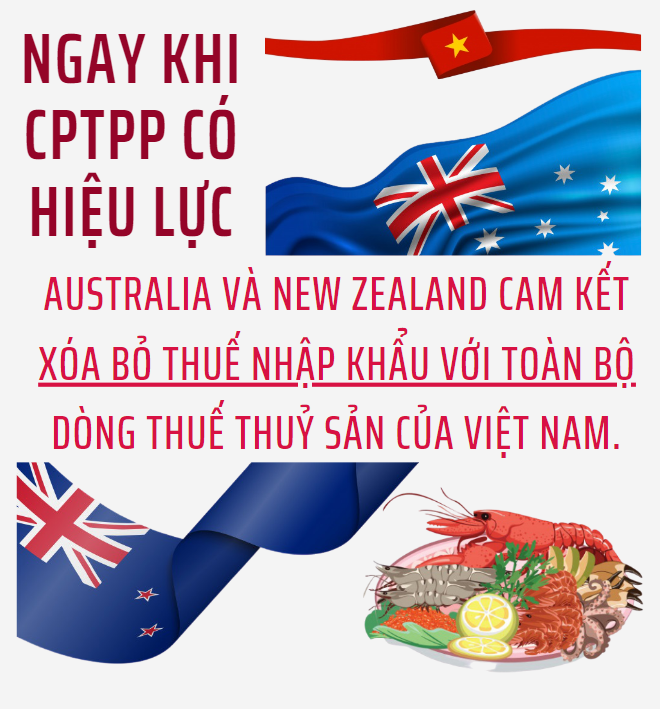 CPTPP: Cam kết thuế quan của Australia và New Zealand đối với thủy sản Việt Nam - Ảnh 1.