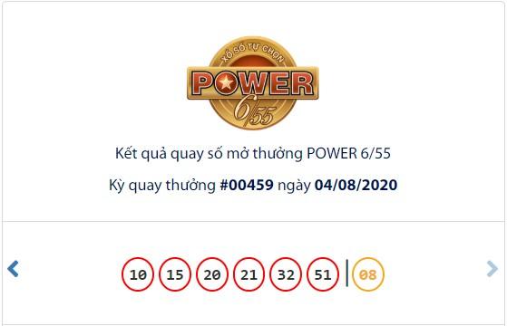 Kết quả Vietlott Power 6/55 ngày 4/8: Cả 2 giải thưởng lớn đều hụt chủ nhân - Ảnh 1.