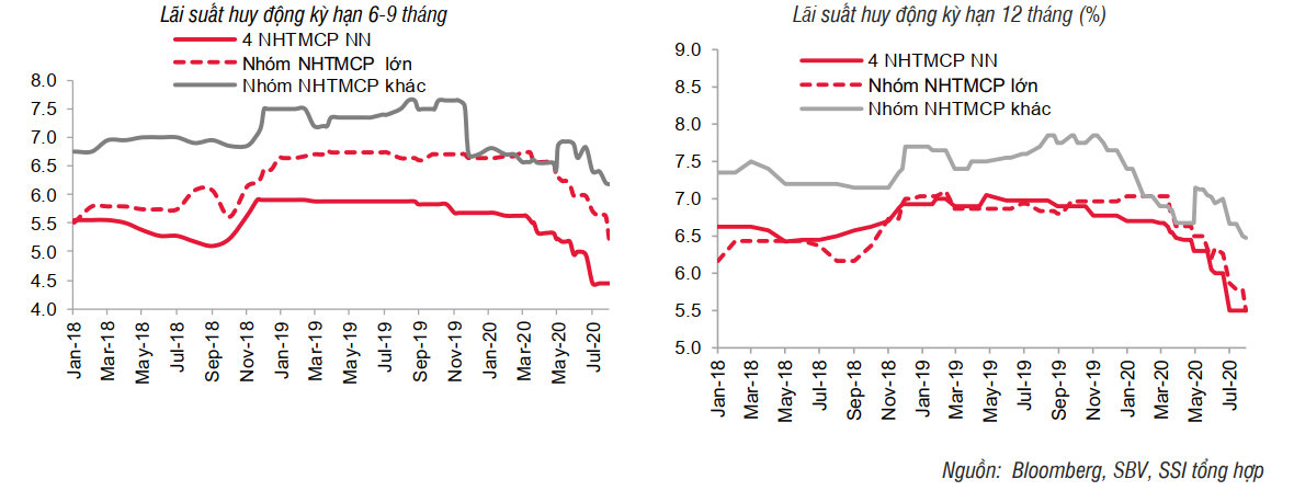 SSI Research: Lãi suất huy động đã giảm tới 2% so với cuối năm 2019 - Ảnh 1.