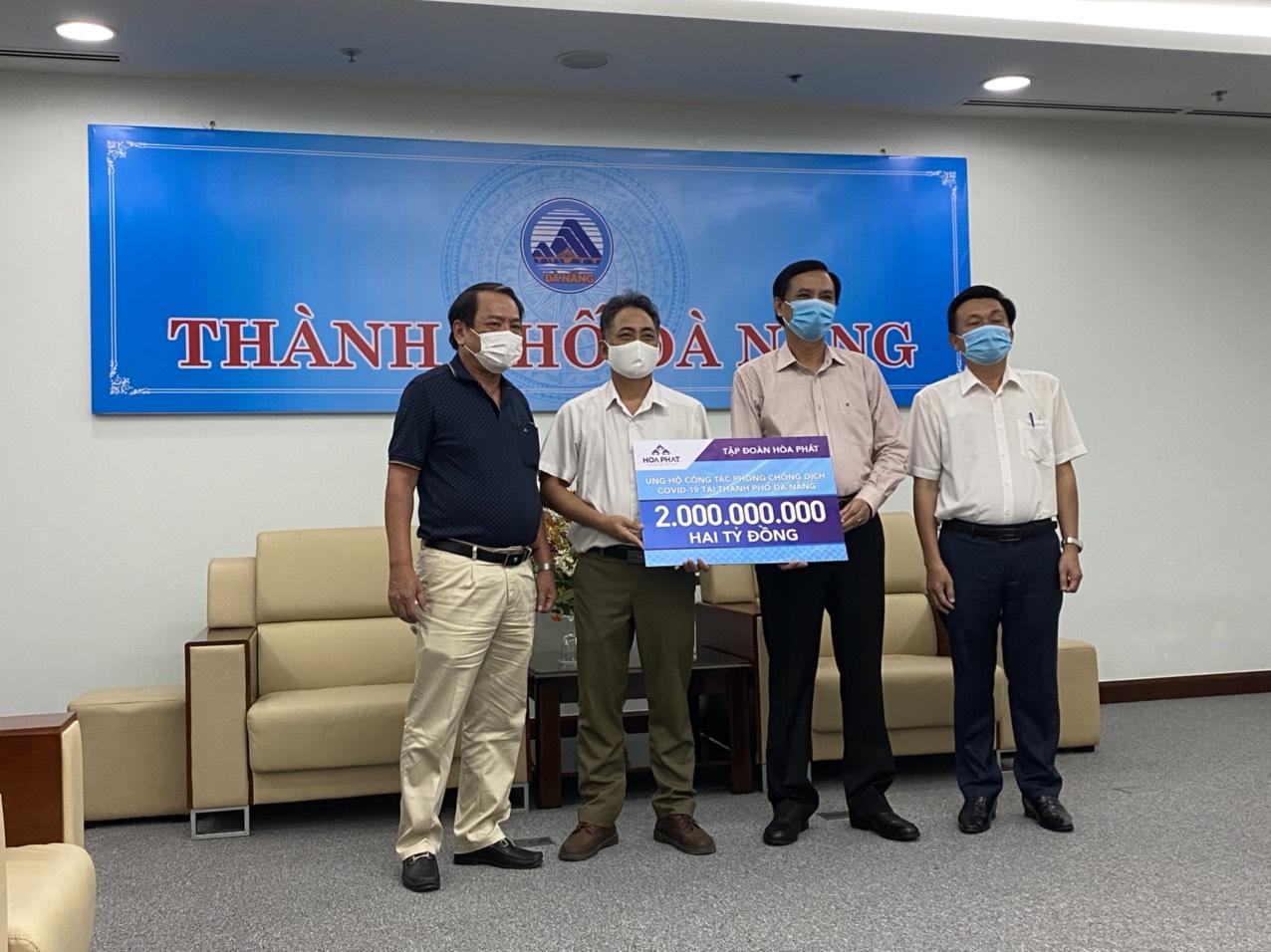 Hòa Phát ủng hộ 6 tỉ đồng cho Đà Nẵng, Quảng Nam, Quảng Ngãi chống dịch - Ảnh 1.