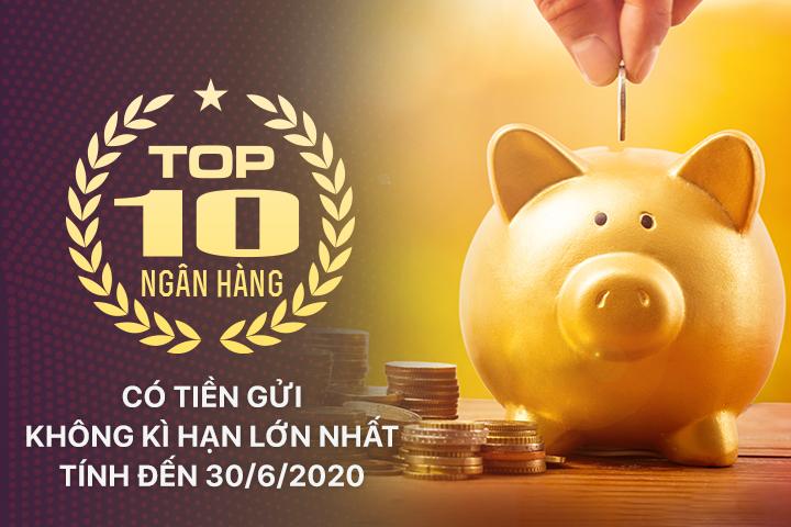 TOP 10 ngân hàng có tiền gửi không kì hạn lớn nhất - Ảnh 1.