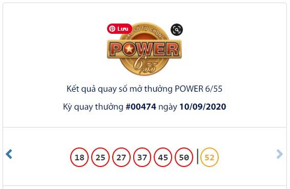 Kết quả Vietlott Power 6/55 ngày 10/9: Jackpot tăng hơn 46 tỉ đồng tiếp tục vô chủ - Ảnh 1.