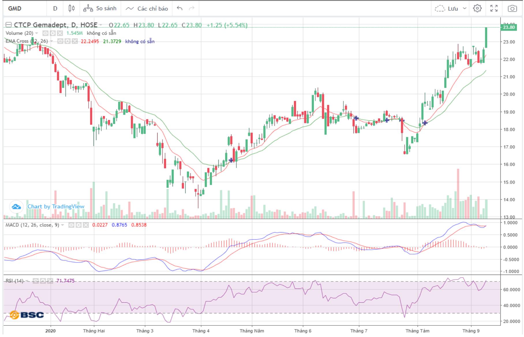 Cổ phiếu tâm điểm ngày 11/9: GMD, ACV, NCT  - Ảnh 1.