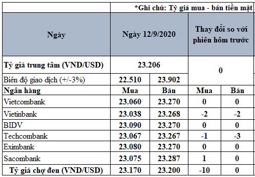 Tỷ giá USD hôm nay 12/9: Giá mua chợ đen giảm 10 đồng - Ảnh 2.
