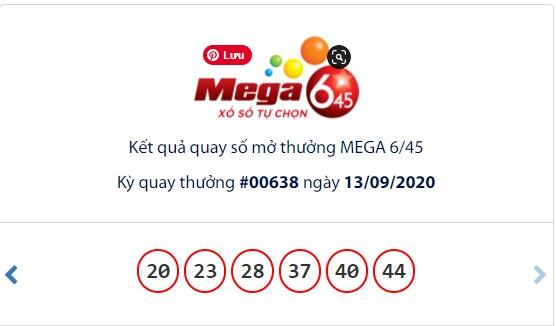 Kết quả Vietlott Mega 6/45 ngày 13/9: Jackpot vẫn chưa có tiếng 'nổ' ở mốc 28,2 tỉ đồng - Ảnh 1.