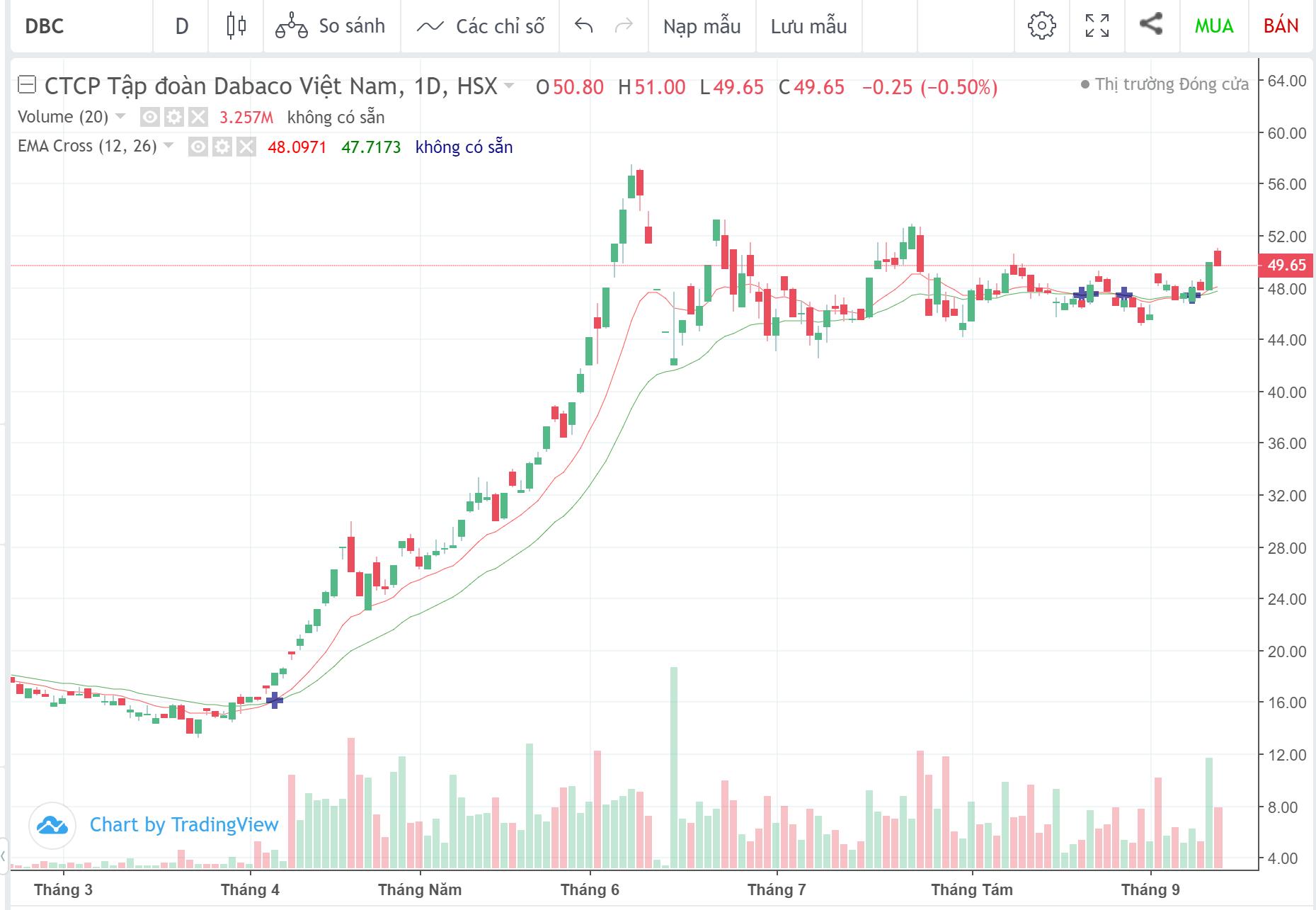 Cổ phiếu tâm điểm ngày 15/9: DBC, TCT, GEG, LDG - Ảnh 1.