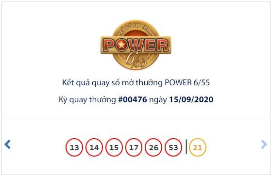 Kết quả Vietlott Power 6/55 ngày 15/9: Vẫn chưa tìm thấy chủ nhân của jackpot 1 trị giá 49,6 tỉ đồng - Ảnh 1.