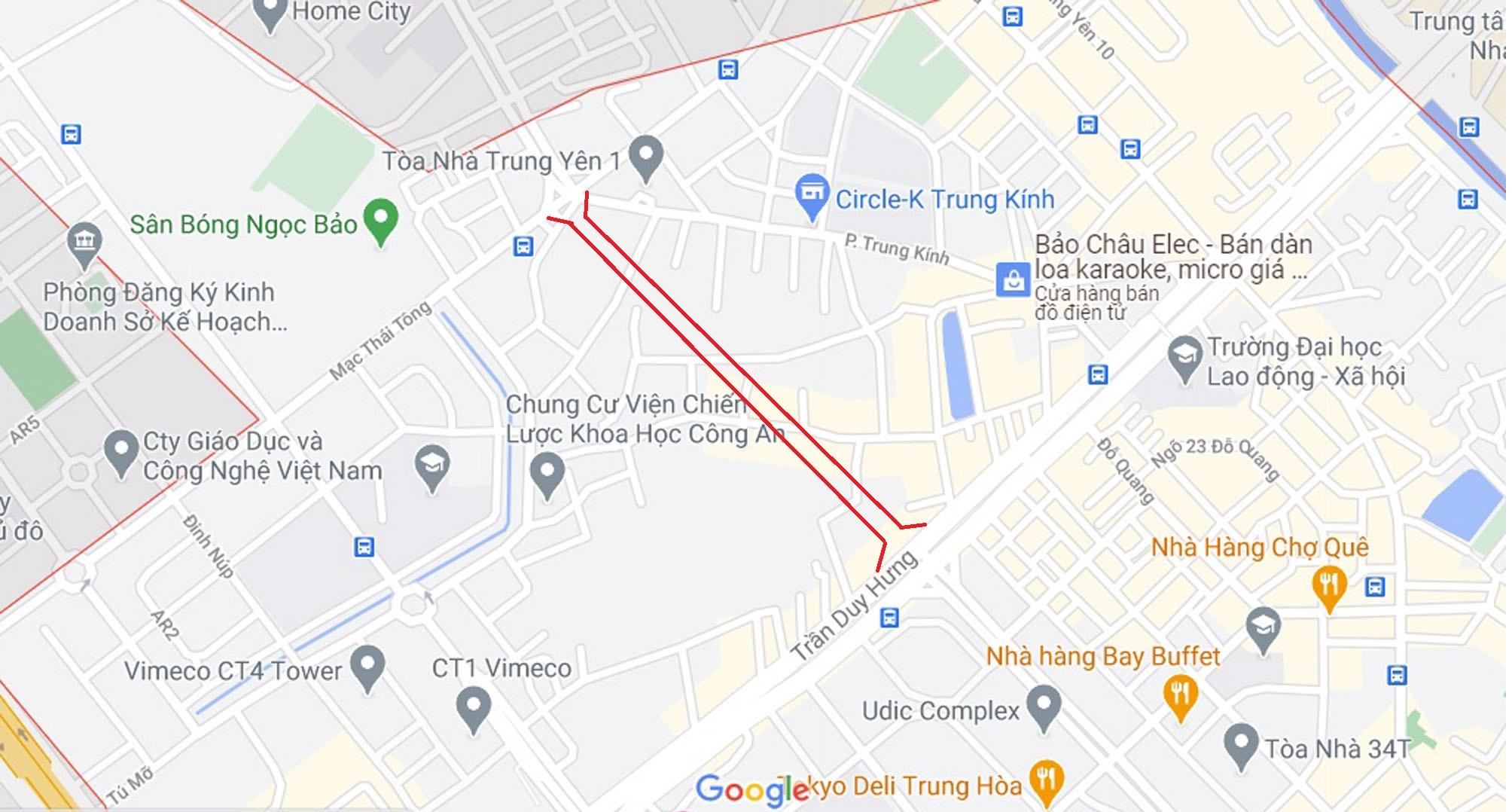 đường sẽ mở theo qui hoạch ở phường Trung Hòa, Cầu Giấy, Hà Nội - Ảnh 2.