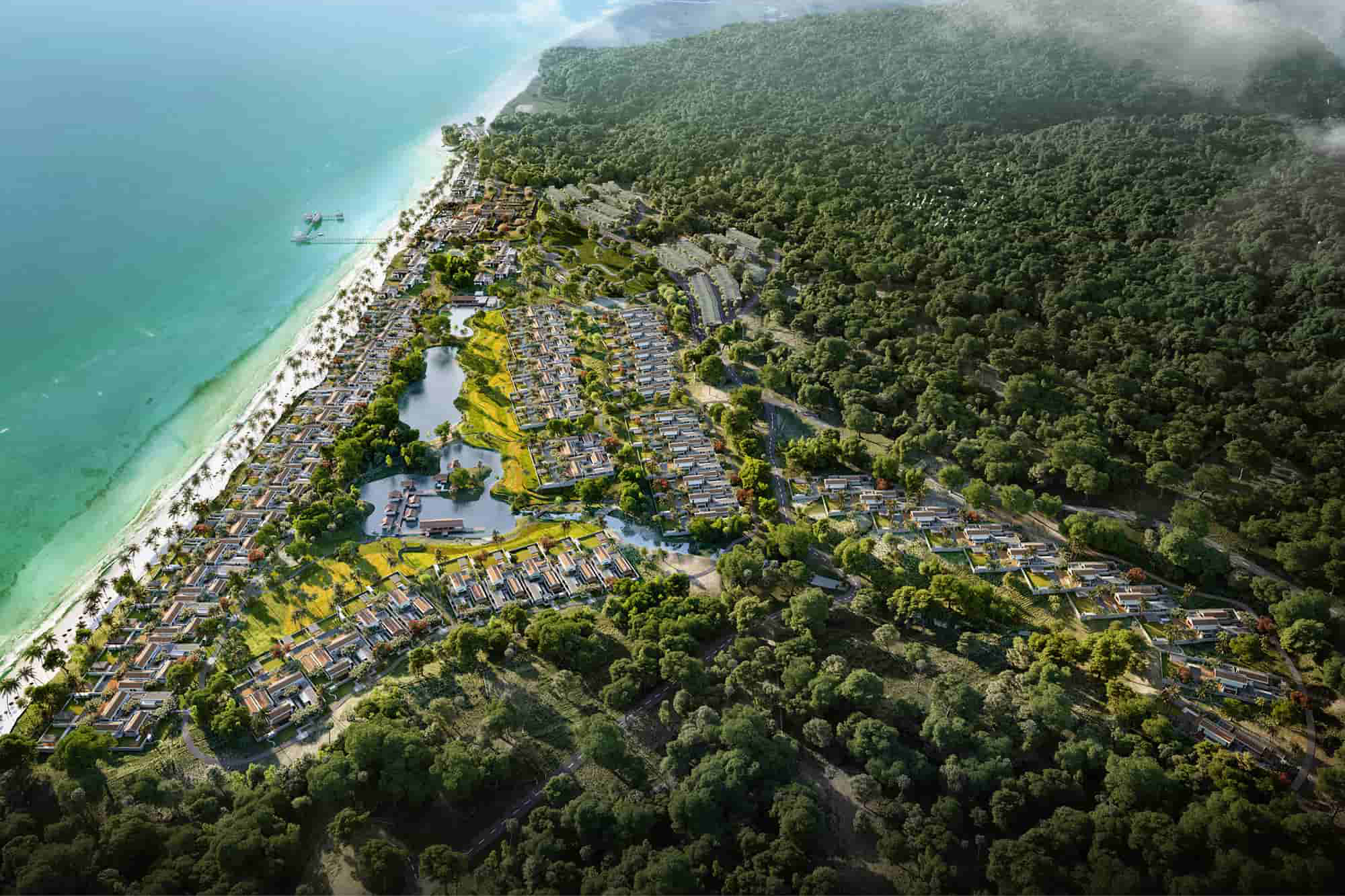 Điều chỉnh diện tích khu hỗn hợp khu du lịch nghỉ dưỡng cao cấp Nam Bãi Trường tại Phú Quốc