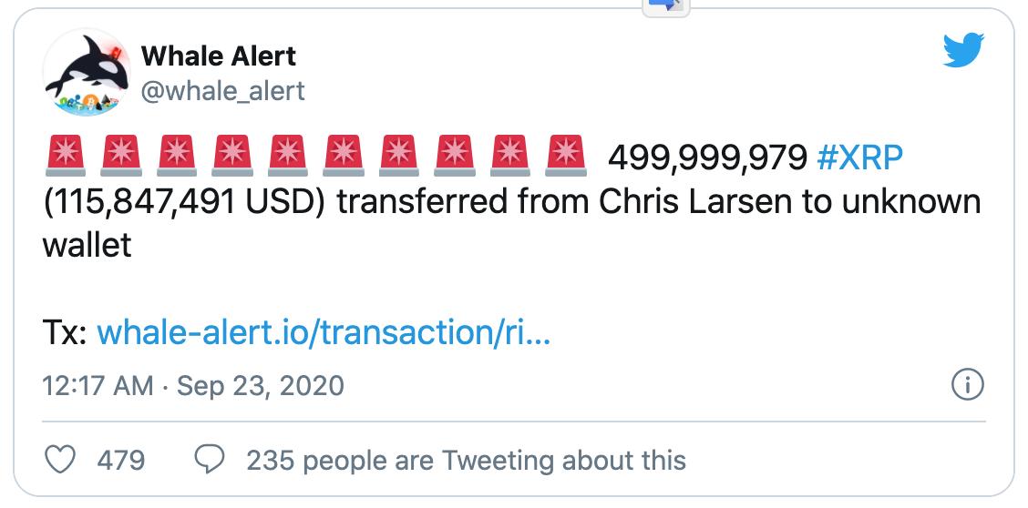 Giá bitcoin hôm nay 23/9: Tăng nhẹ, cựu CEO Ripple vừa dịch chuyển 500 triệu XRP - Ảnh 5.