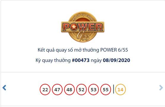 Kết quả Vietlott Power 6/55 ngày 8/9: Xuất hiện chủ nhân trúng giải Jackpot 2 trị giá hơn 3,7 tỉ đồng - Ảnh 1.