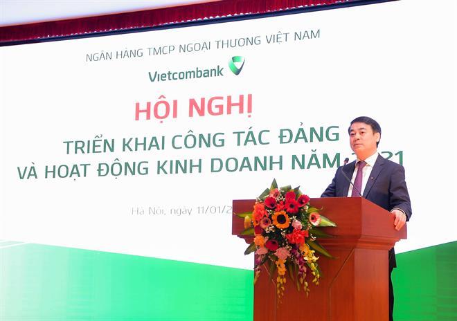Vietcombank mục tiêu lãi trước thuế 25.200 tỷ đồng năm 2021 - Ảnh 1.