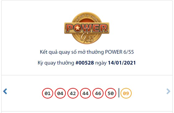 Kết quả Vietlott Power 6/55 ngày 14/1: Cả 2 giải Jackpot đều vắng chủ nhân - Ảnh 1.