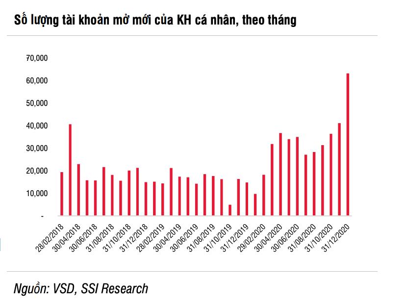 SSI Research: Tăng trưởng ngành chứng khoán đạt 10 - 20% năm 2021 - Ảnh 1.