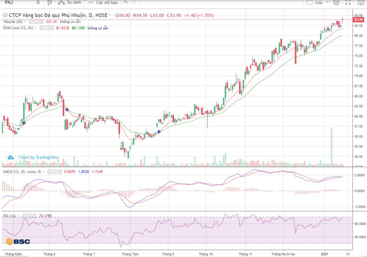 Cổ phiếu tâm điểm ngày 19/1: PNJ, VND, SZC - Ảnh 1.