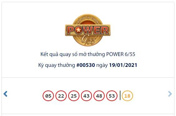 Kết quả Vietlott Power 6/55 ngày 19/1: Cả 2 giải thưởng lớn đều hụt chủ nhân - Ảnh 1.