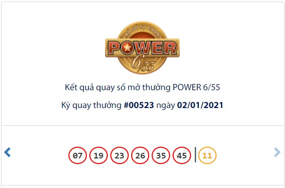 Kết quả Vietlott Power 6/55 ngày 2/1: Cả 2 giải Jackpot đều hụt chủ nhân - Ảnh 1.