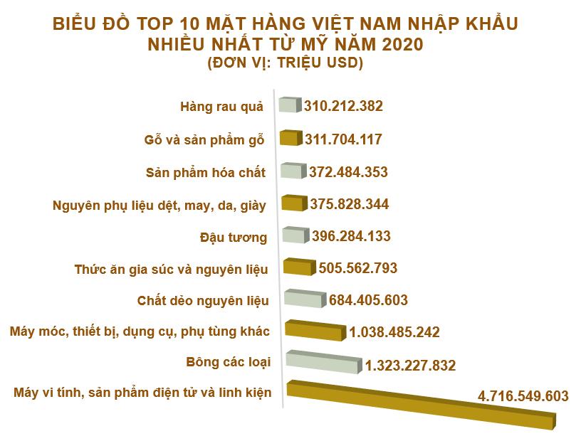 Xuất nhập khẩu Việt Nam và Mỹ tháng 12/2020: Xuất siêu sang Mỹ hơn 6,4 tỷ USD - Ảnh 4.