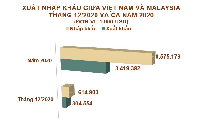 Xuất nhập khẩu Việt Nam và Malaysia tháng 12/2020: Nhập khẩu phân bón các loại tăng 1582% - Ảnh 2.