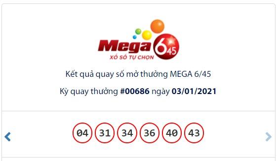 Kết quả Vietlott Mega 6/45 ngày 3/1: Jackpot hơn 13,5 tỉ đồng vắng chủ nhân - Ảnh 1.
