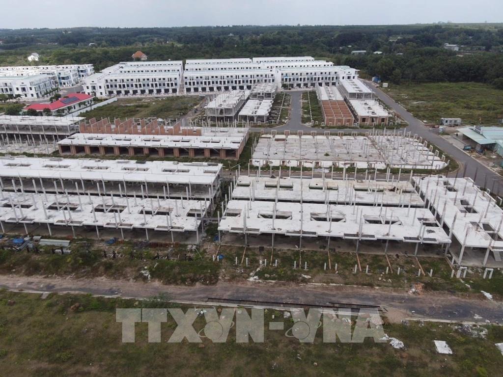 LDG xác nhận đã ngừng thi công hàng trăm căn nhà biệt thự tại dự án khu dân cư Tân Thịnh - Ảnh 1.