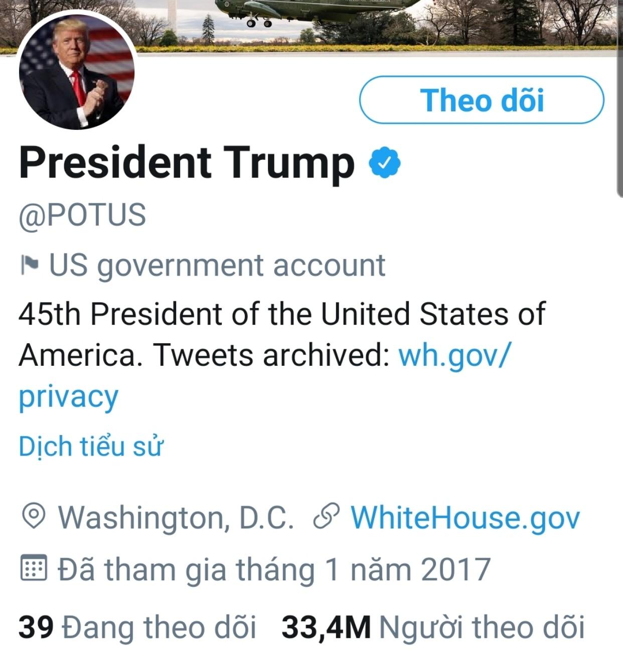 Twitter tiếp tục kiểm soát các tài khoản liên quan tới ông Trump - Ảnh 1.