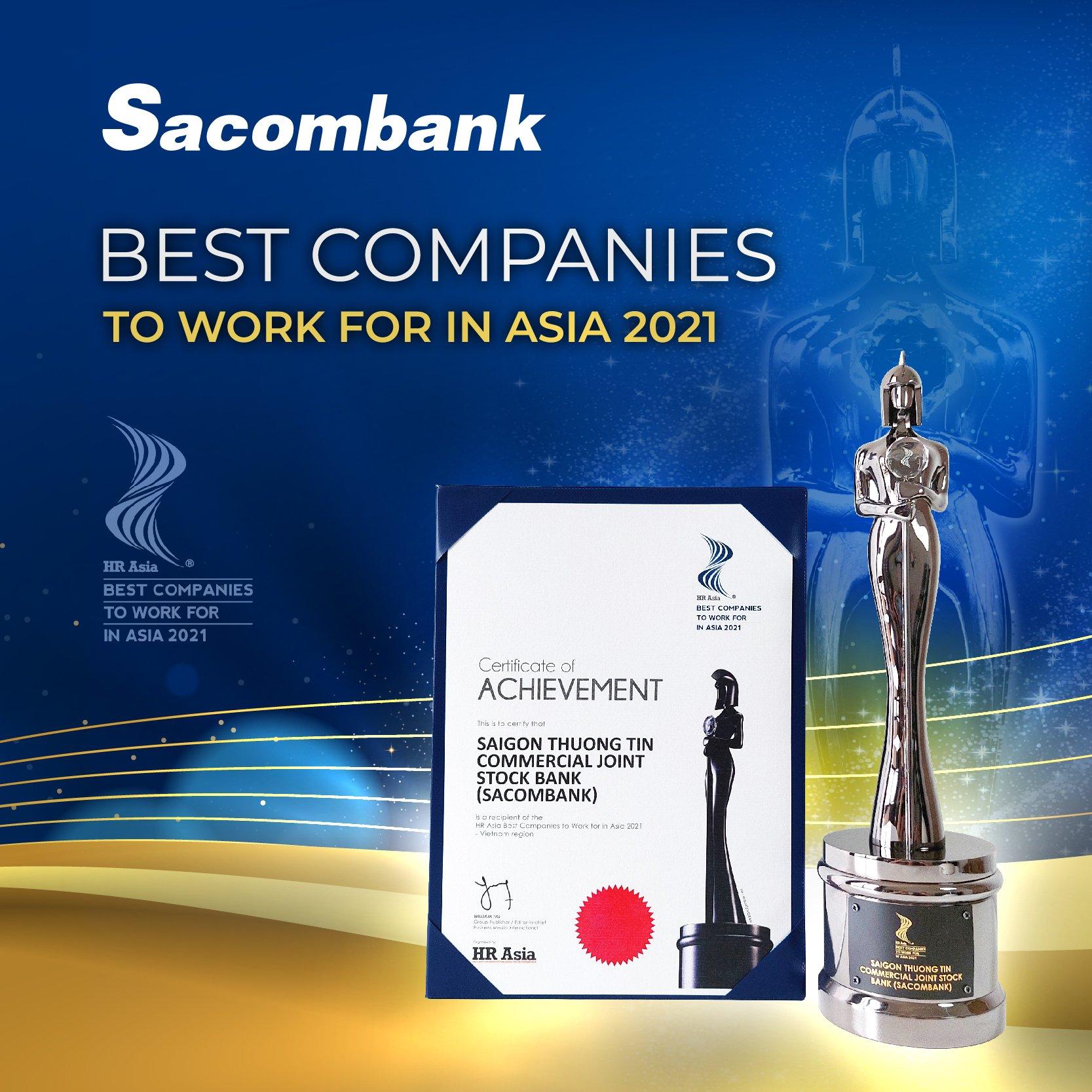 Sacombank đạt giải thưởng môi trường làm việc tốt nhất châu Á năm 2021 - Ảnh 1.
