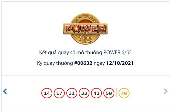 Kết quả Vietlott Power 6/55 ngày 12/10: jackpot 1 giá trị hơn 74,3 tỷ đồng vô chủ - Ảnh 1.