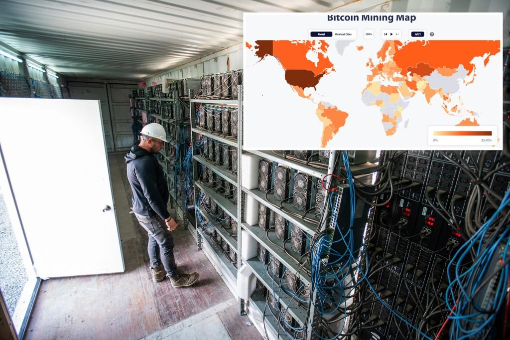 Mỹ vượt Trung Quốc thành trung tâm khai thácbitcoin lớn nhất thế giới - Ảnh 1.