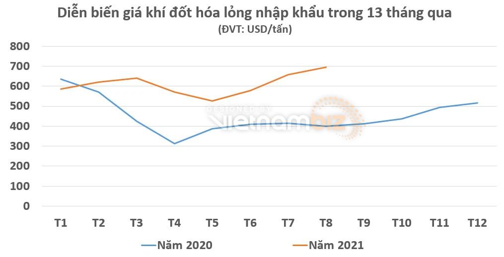 Việt Nam bước vào đường đua nhập khẩu khí đốt hóa lỏng, giá gas bán lẻ trong nước tăng mạnh - Ảnh 2.