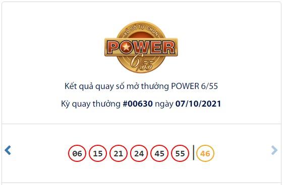 Kết quả Vietlott Power 6/55 ngày 7/10: jackpot 1 giá trị hơn 69,2 tỷ đồng không tìm thấy chủ - Ảnh 1.
